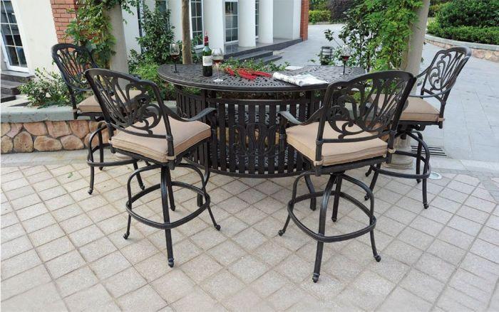 Heritage Outdoor Living Cast Aluminum, Aluminum Patio Bar Set