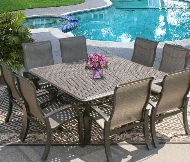 Sling Outdoor Patio 9pc Dining Set