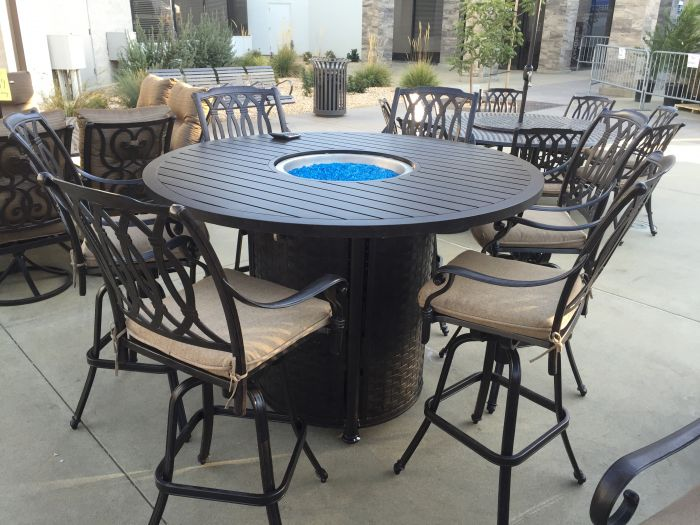 Bar Height Patio Set With Fire Pit
