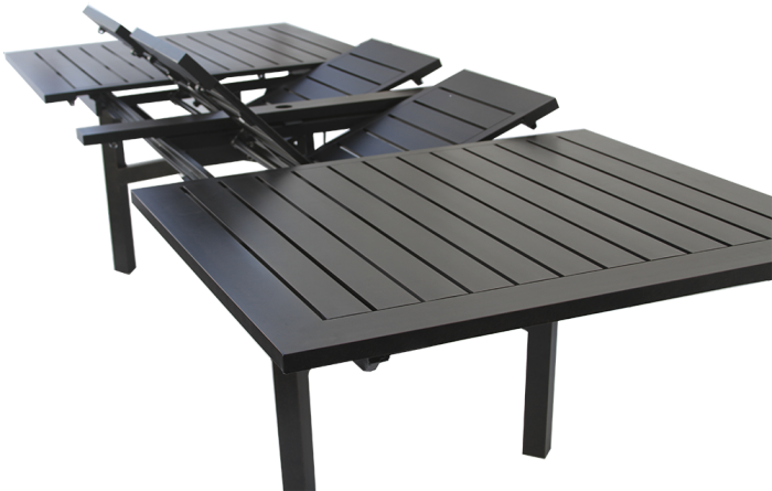 Heritage Outdoor Living Rectangle Extendable Dining Table Series 4000 Zenpatio