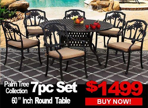 Patio Furniture Palm Tree 7 Piece, Palm Tree Furniture