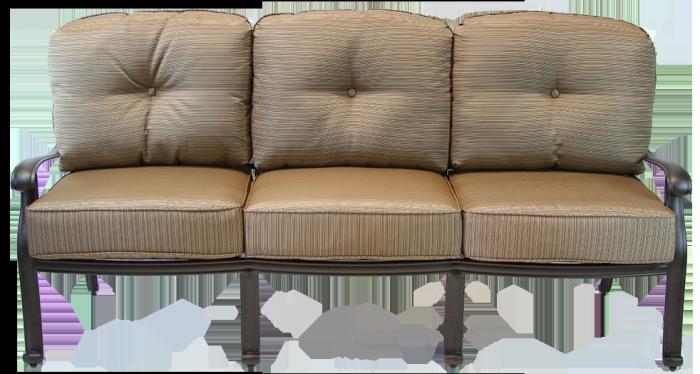 Prime San Marcos Cast Aluminum Outdoor Patio Sofa With Cushion Antique Bronze Home Interior And Landscaping Ponolsignezvosmurscom