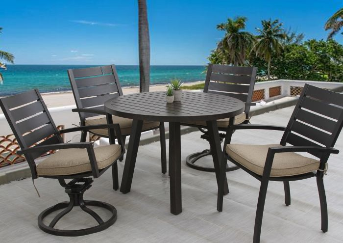 Quincy Outdoor Patio 5pc Dining Set