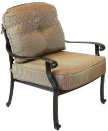 Elisabeth Cast Aluminum Deep Seating Patio Club Chair